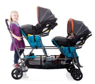 joovy triple stroller seats