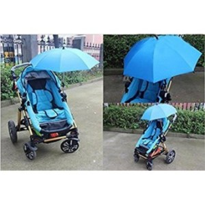 Ajusen Baby Stroller Sunshade Rays Rain Sun Canopy Mount Stand Umbrella 360 Degrees Adjustable Direction Stroller Parasol - intl