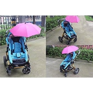 Ajusen Baby Stroller Sunshade Rays Rain Sun Canopy Mount StandUmbrella 360 Degrees Adjustable Direction Stroller Parasol - intl