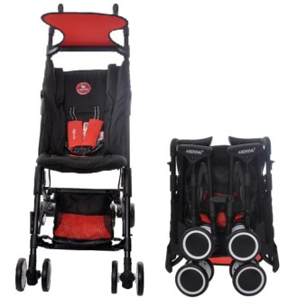 Akeeva Aerolite Pocket Stroller (Black/Red)