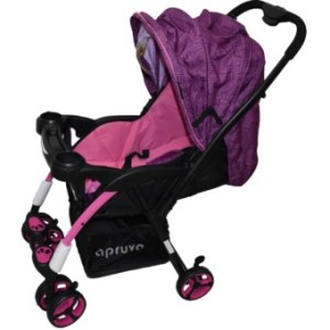 Apruva Folding Deluxe Baby Stroller with Reversible Handle (purple)