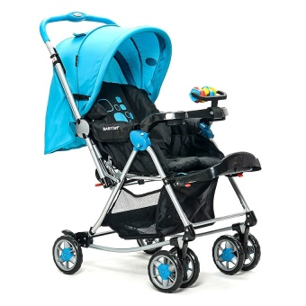 Baby 1st 3-Way Stroller with Rocking Feature (Blue)