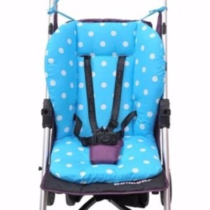 Baby Cotton Stroller Soft Cushion Pad Liner Blue - intl