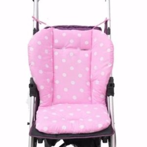 Baby Cotton Stroller Soft Cushion Pad Liner Pink - intl