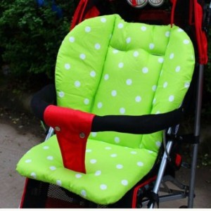Baby Infant Stroller Seat Pushchair Cushion Cotton Mat White DotGreen