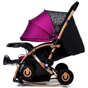 Baby Stroller Umbrella Vehicle Baby Cart Can Sit Lying Flat Light Foldable Newborn Children Wheelbarrow - intl