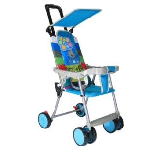 BabyGro Compact Stroller (Blue Printed)