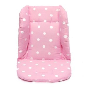 Cotton Baby Stroller Seat Cushion Polka Dot Printed Liner Seat SoftThick Pad(Pink) - intl