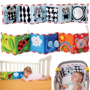 Double Sided Baby Cloth Book Crib Books Clip On Pram Cot Lear BabyToys Mobiles Toy Readings Cloth Books - intl