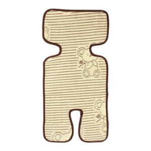 Flax and Bamboo Baby Seat Pad Mat Liner for Stroller Pram(Coffee)