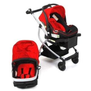 Goodbaby Luxury High Compact Travel System w/ Carseat (Red)