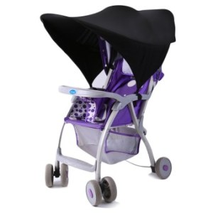 Hang-Qiao Baby Stroller Sunshade Canopy Cover Black