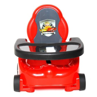 Happy Dino Booster Seat (Red)