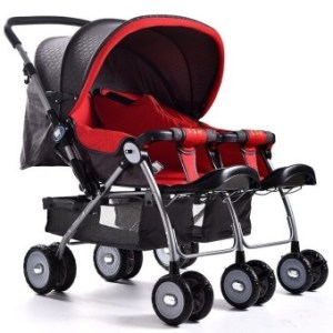 Horse Hooves Baby Stroller Can Sit Lie Light Fold Garden Cart Baby Cart Double Baby Carriage - intl