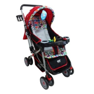 Irdy 3-way Reversible 19KTP Stroller w/ food tray and bottle holder (red)