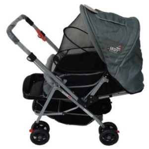 IRDY 829A 3- ways stroller w/ 8 wheels reversible handle w/ mosquito net (grey)