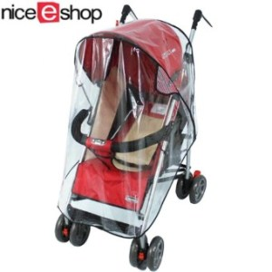 niceEshop Clear Waterproof Rain Cover Wind Shield for Baby Strollers Carrier