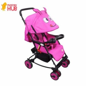 Phoenixhub Multi-purpose light weight cartoon designed baby stroller PINK XBD-6011