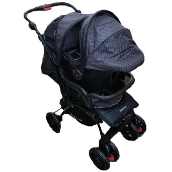 Toy Collections Baby 1st B032RD Stroller with Car Seat (Black)
