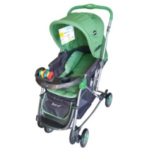 Toy Collections Baby 1St reversible rocking stroller 036CR-green