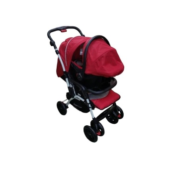 Toy Collections BABY 1st stroller with car seat CDB032RD red 2016