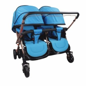 Unicorn Selected Mosquito Net Double Twin baby stroller (Blue)