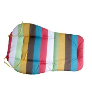Universal Kids Baby Oxford Colorful Stripe Pattern Double Sided Available Stroller Seat Pad Cushion Green Yellow