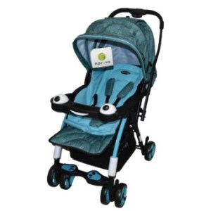 Apruva Folding Deluxe Baby Stroller with Reversible Handle (blue)
