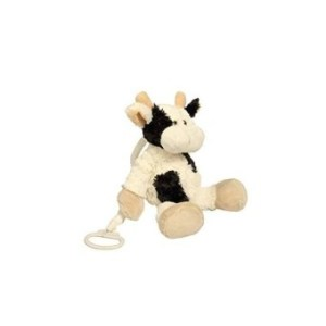 Baberoo Softest Stuffed Animal Plush Toy Cow Musical Soother For Babies And Children- 10 Inches