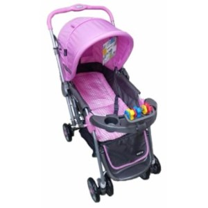 Baby 1st CD-S036B Stroller w/ Toy and Reversable Handle (Pink)