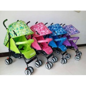 Foldable Compact Baby Stroller with Canopy Style #208 (Violet)