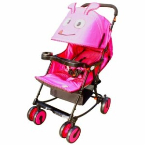 Goofy Bug Inclining Baby Stroller (Pink)