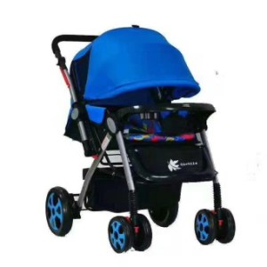 High Class Foldable Compact Baby Stroller with Canopy Style T2 (Blue)