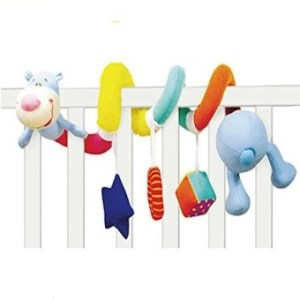 Kseey Baby Crib Toy - Activity Wrap Around Crib Rail Or Stroller Toy - Toys For Babies 3 To 6 Months