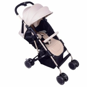 MMC 3-folds Baby Stroller w/ 360 Degree Rotating Wheels - T06 Brown
