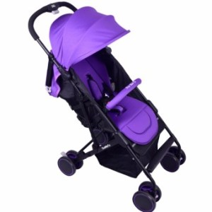 MMC 3-folds Baby Stroller w/ 360 Degree Rotating Wheels - T06 Violet