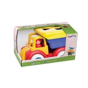 Viking Shape Sorter Truck- Ages 1+ - 11 Inches – 6 Piece Set—Dishwasher Safe – Soft Plastic