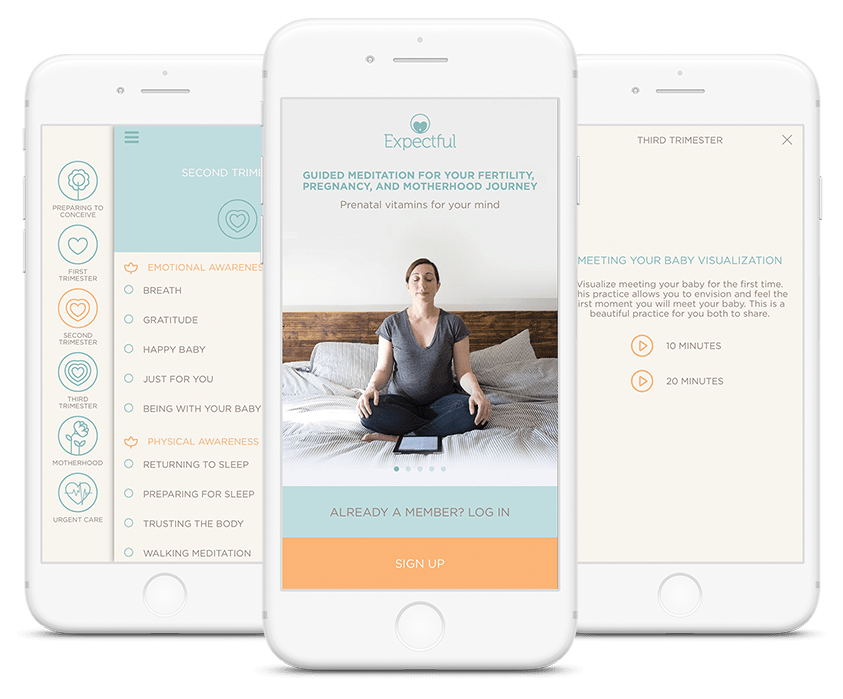 Pregnancy Meditation. The app is beautifully designed and is simple to use.