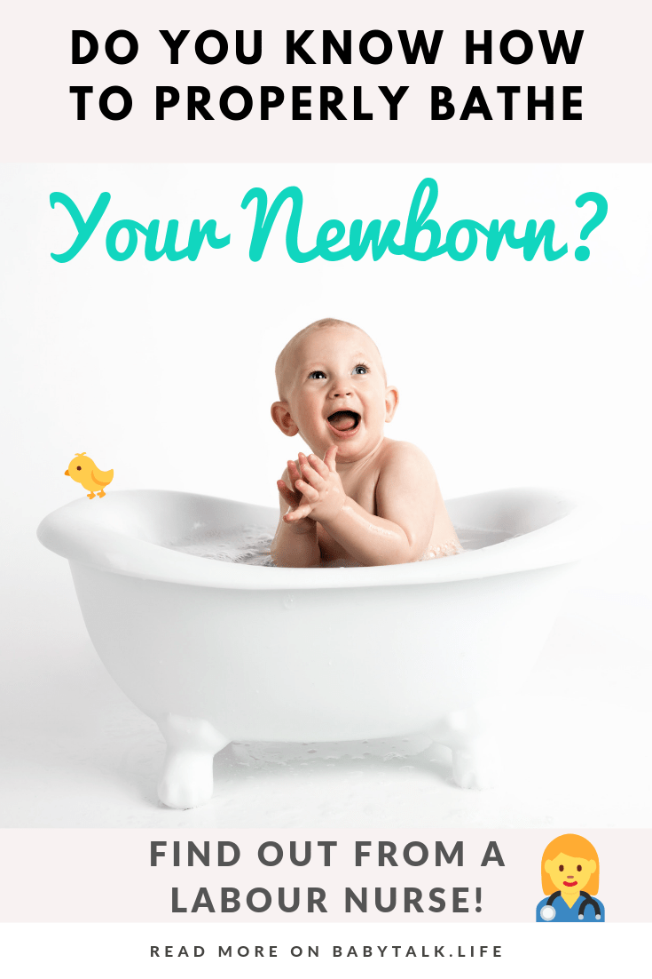 Find out how to bathe your newborn in this awesome step-by-step guide, written by a labour and delivery nurse!
