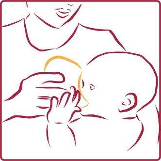 use the kindestCup to cup feed your baby expressed breastmilk