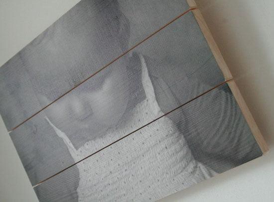 foto op hout zijkant