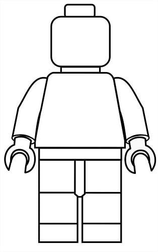 lego poppetjes kleurplaten