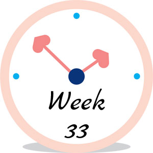 Zwangerschap week 33
