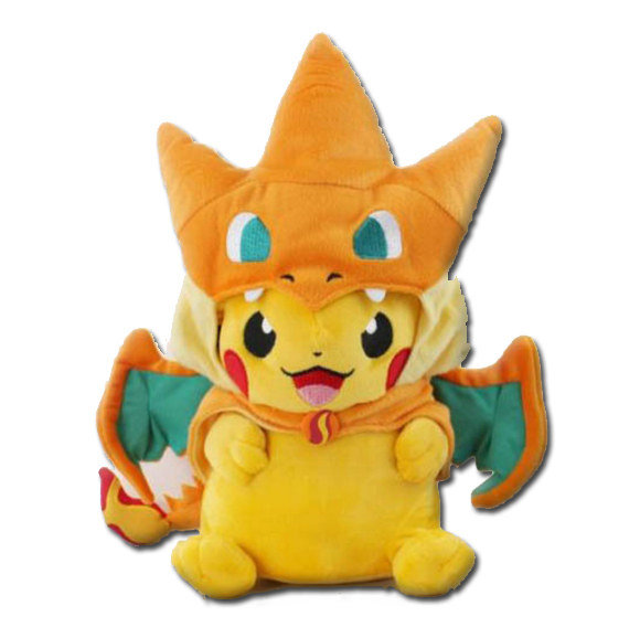 pikachu-wearing-charizard-hat-pokemon-plush