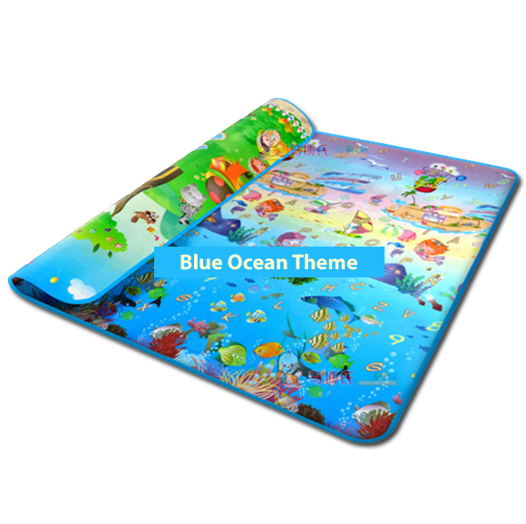 Ocean Blue Foam Play mat