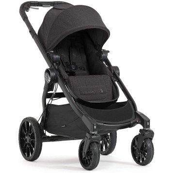baby jogger city select stroller isolated on white background