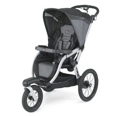 chicco tre performance jogging stroller isolated on white background