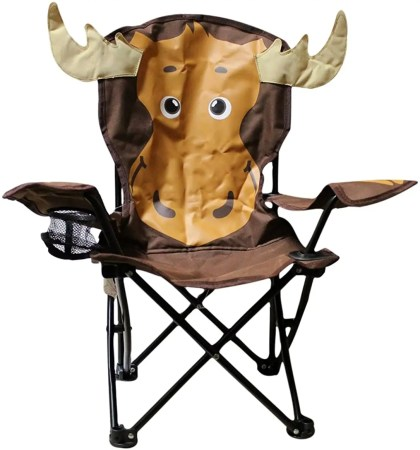 wilcor kids folding camp chair with cup holder and carry bag
