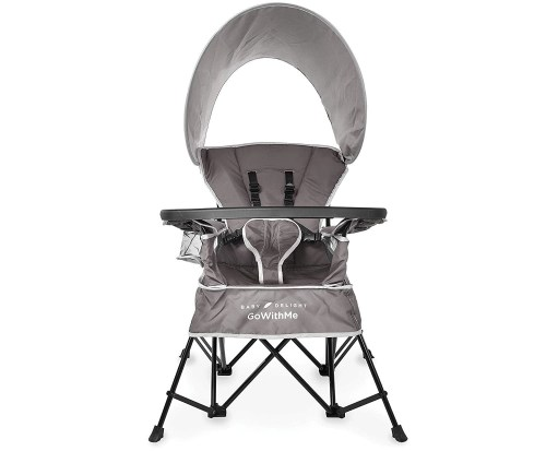 baby delight go with me chair with sun canopy isolated on white background