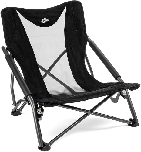 cascade mountain tech camping chair isolated on white background
